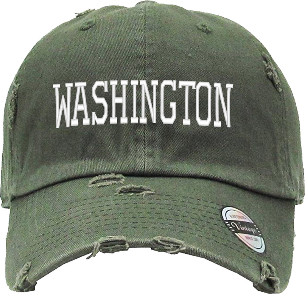 WASHINGTON Distressed Baseball Hat