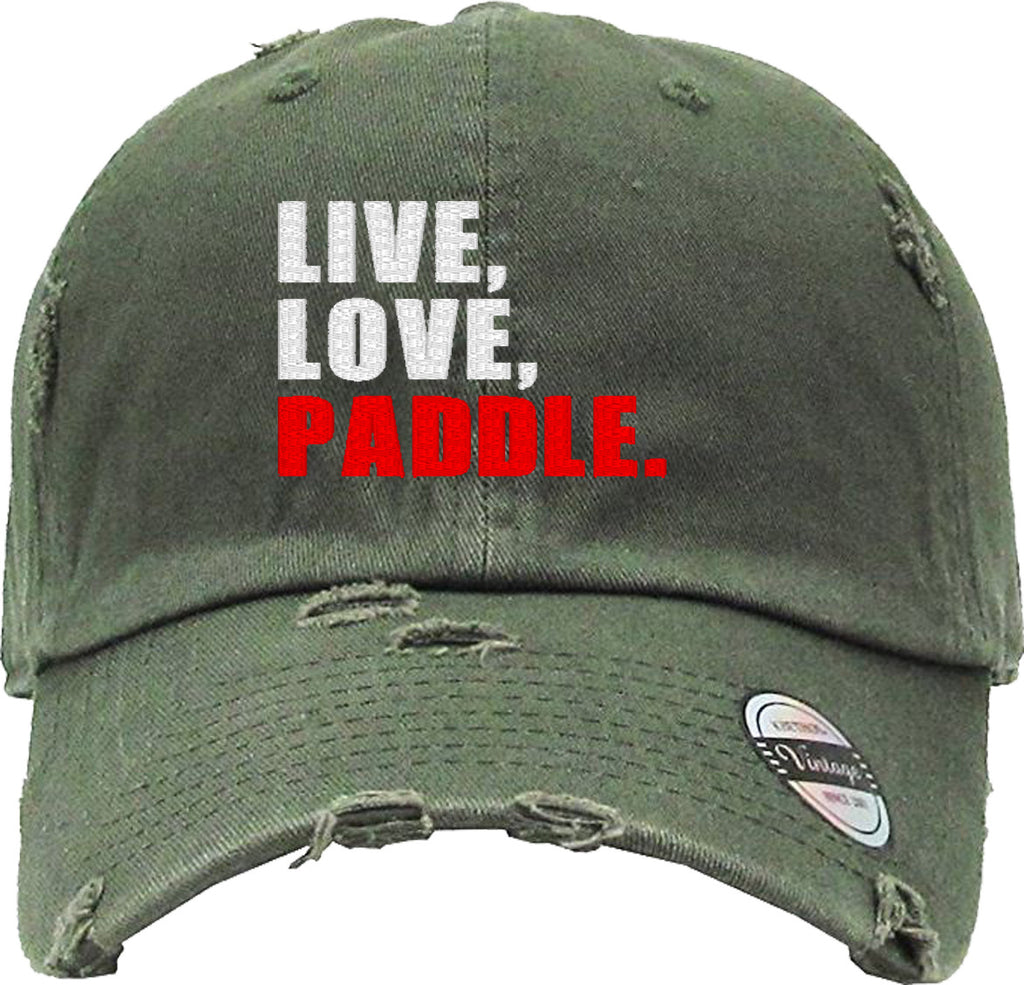 live love puddle Distressed Baseball Hat