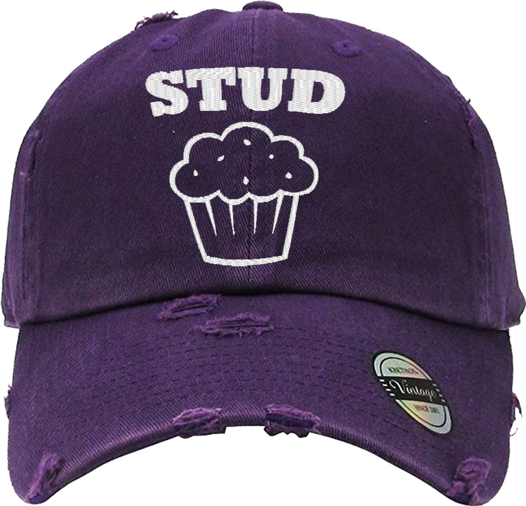 STUD MUFFIN  Distressed Baseball Hat