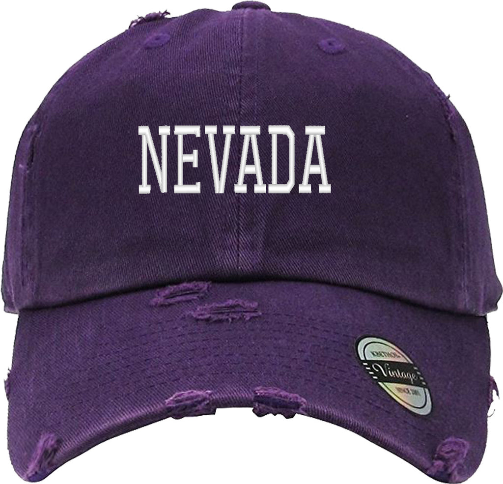 NEVADA Distressed Baseball Hat