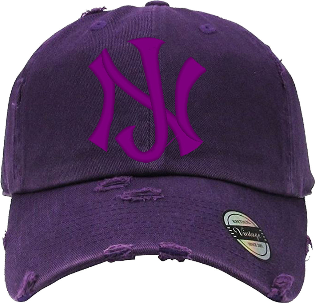 New jersey logo Distressed Baseball Hat