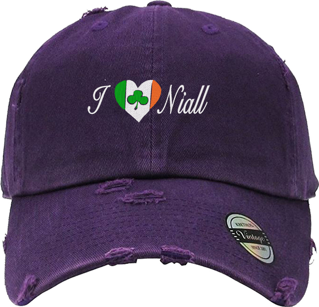 i love niall Distressed Baseball Hat
