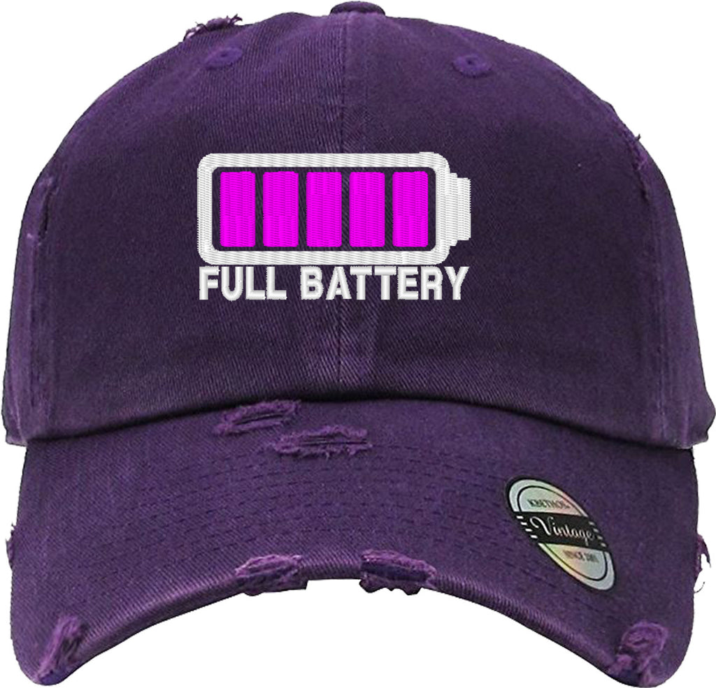 FULL BATTERY Distressed Baseball Hat