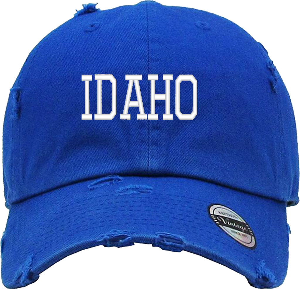 IDAHO STATE Distressed Baseball Hat