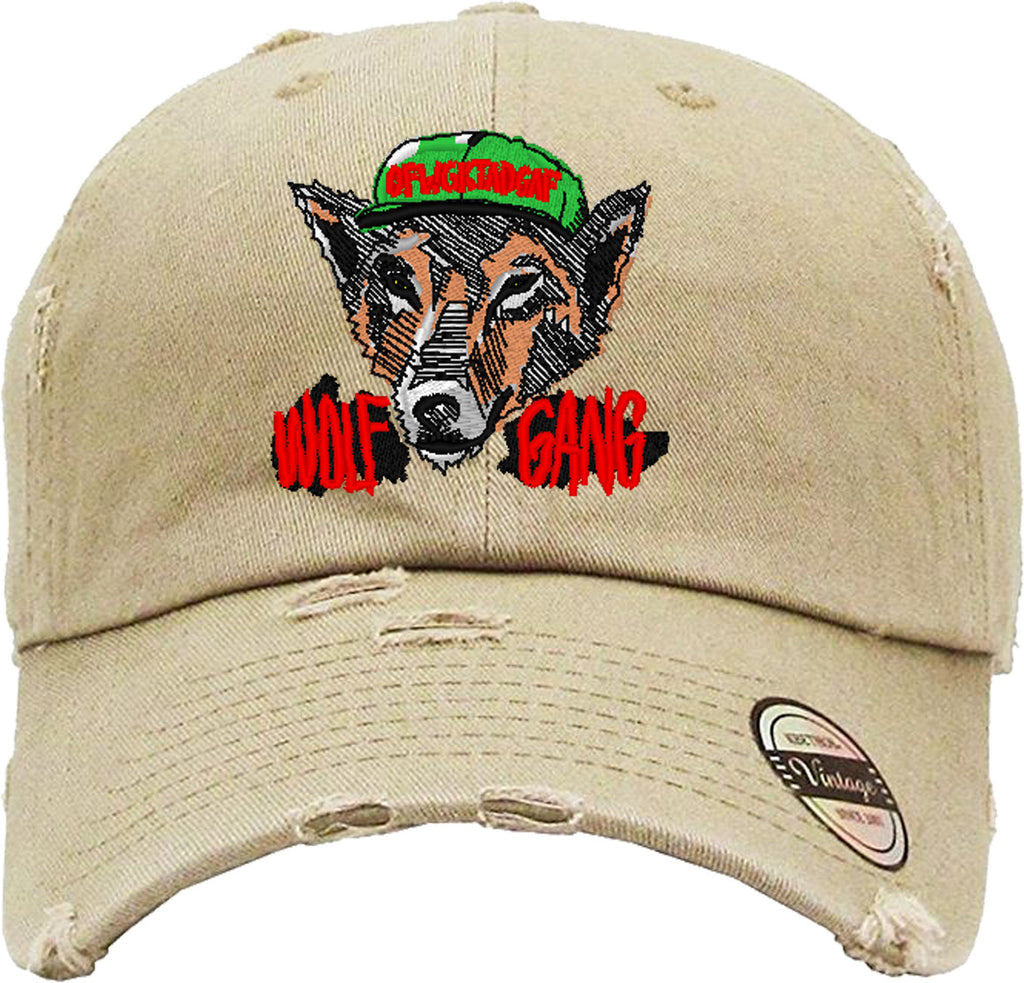 WOLF GANG Distressed Baseball Hat