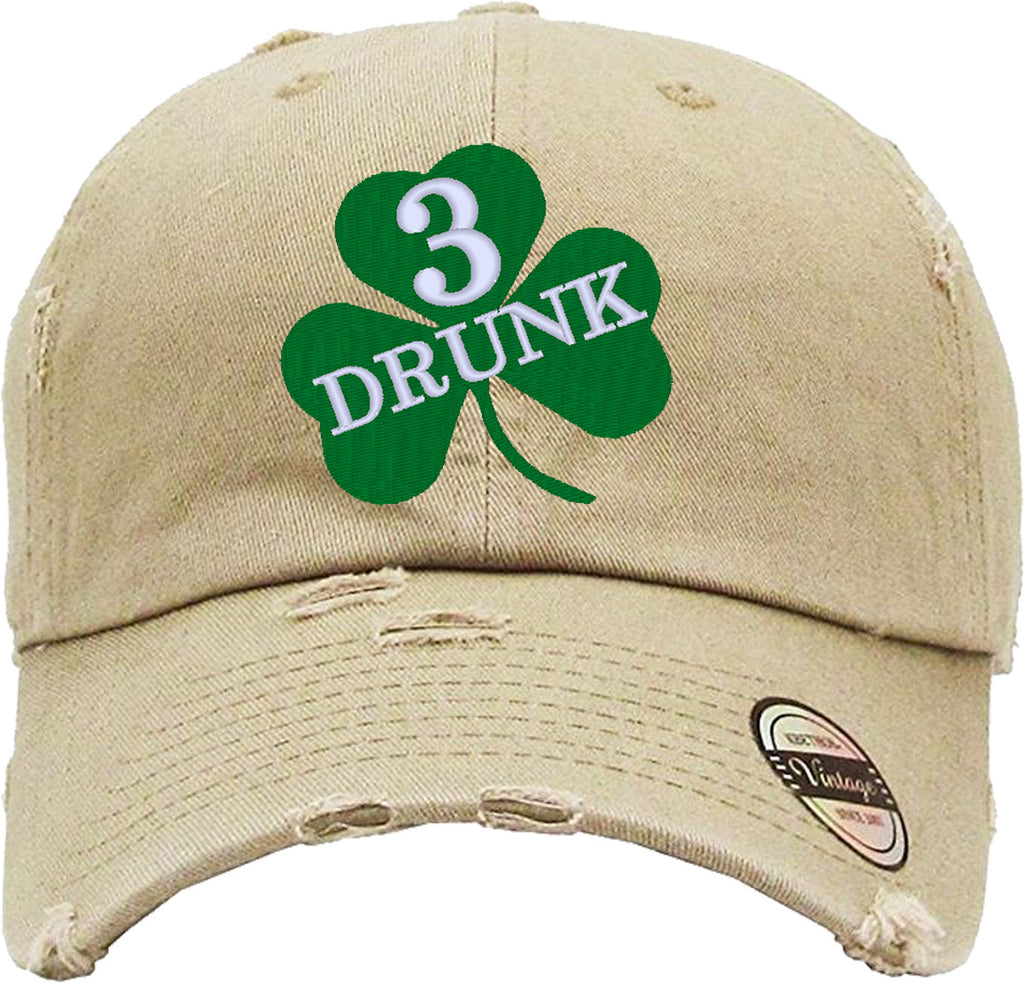 DRUNK 3 Distressed Baseball Hat