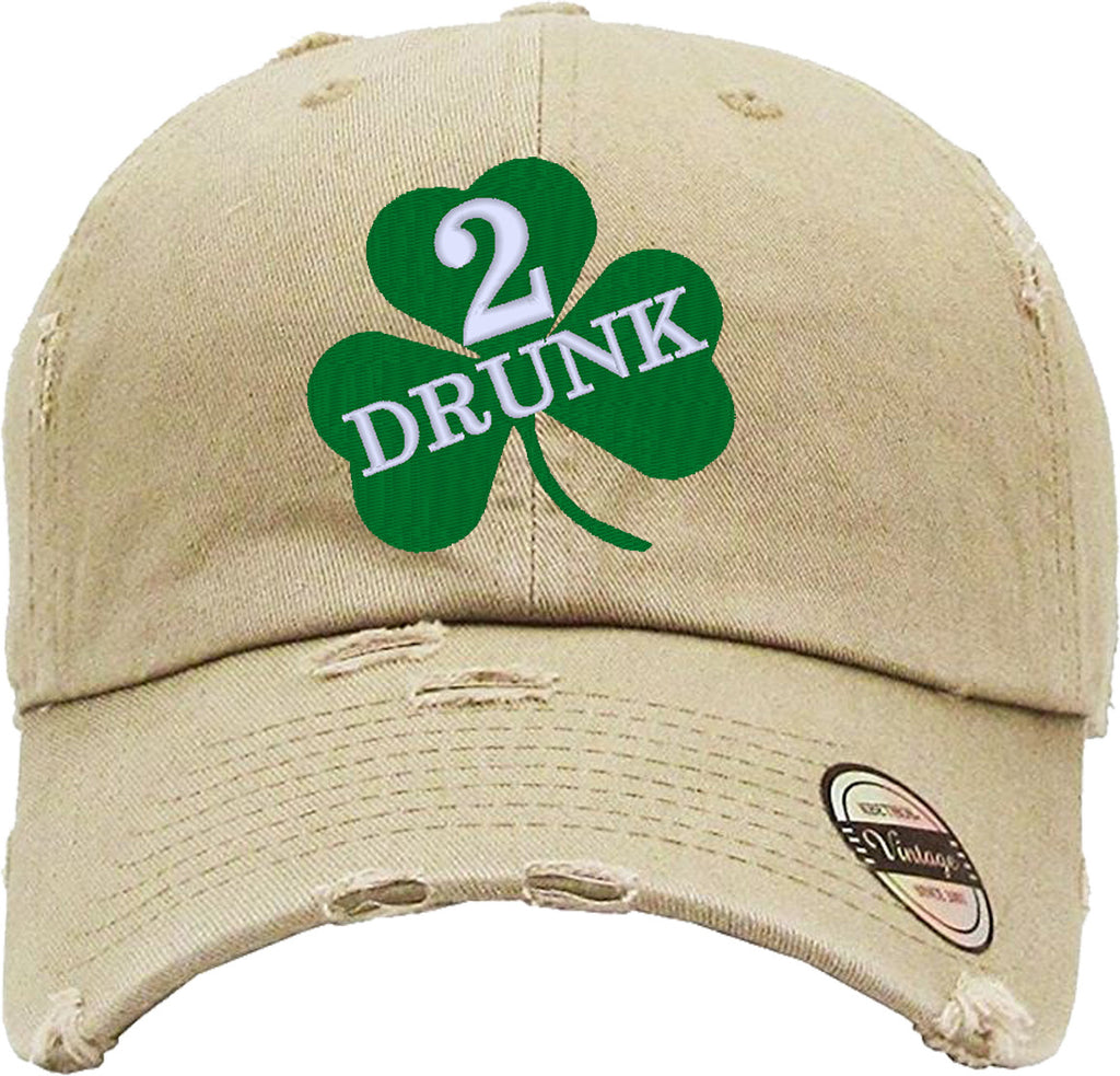 DRUNK 2 Distressed Baseball Hat