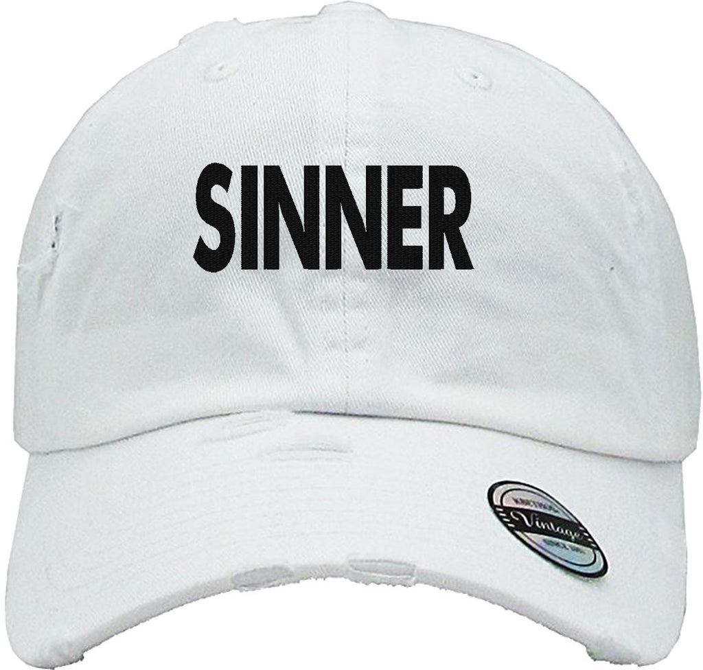 sinner Distressed Baseball Hat