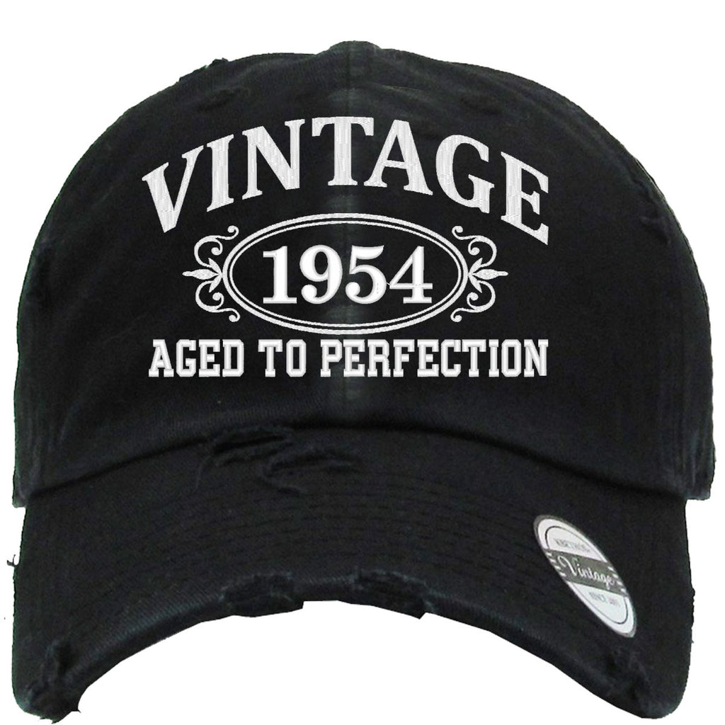 AGED TO PERFECTION 1954 Embroidered Distressed Baseball hat