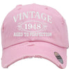 AGED TO PERFECTION 1948 Embroidered Distressed Baseball hat
