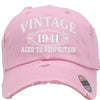 AGED TO PERFECTION 1941 Embroidered Distressed Baseball hat