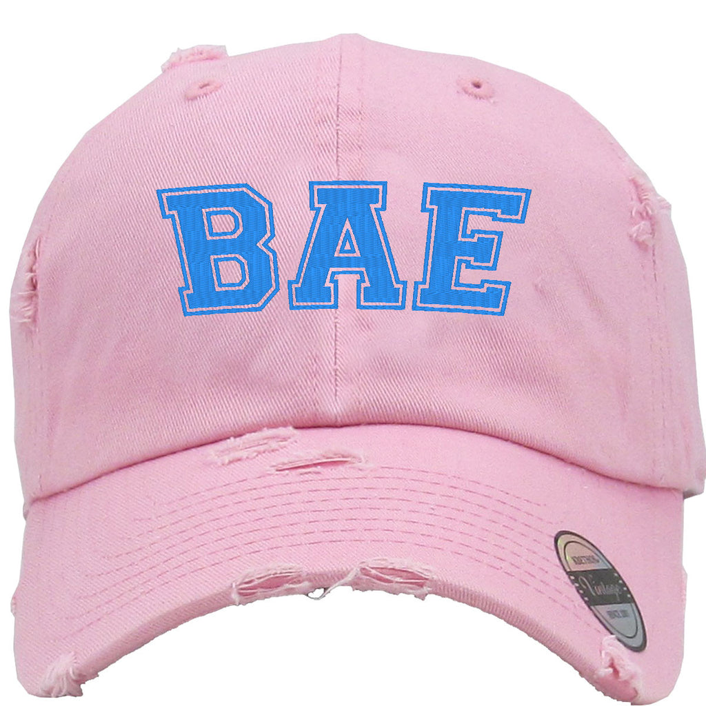 Bae Embroidered Distressed Baseballs