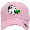 dope hand money Embroidered Distressed Baseball hat