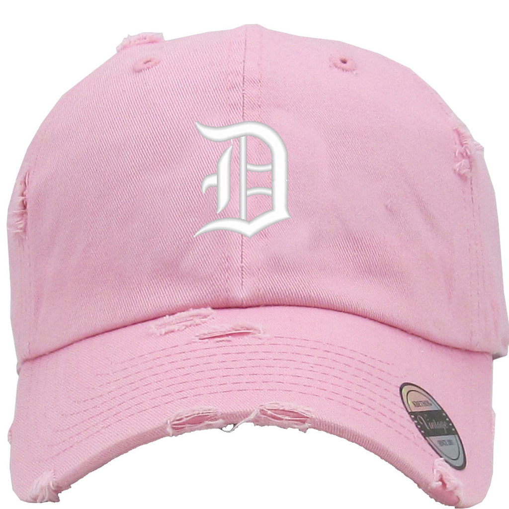 D Embroidered Distressed Baseball hat