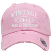AGED TO PERFECTION 1944 Embroidered Distressed Baseball hat