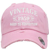 AGED TO PERFECTION 1959 Embroidered Distressed Baseball hat
