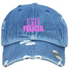 bye felicia Embroidered Distressed Baseball hat