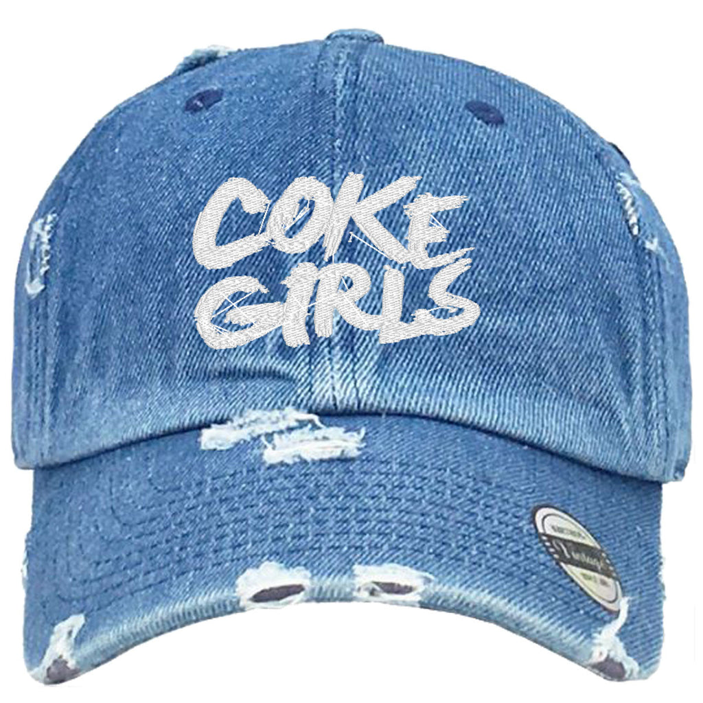 coke girls Embroidered Distressed Baseball hat