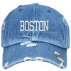 Boston Embroidered Distressed Baseball hat
