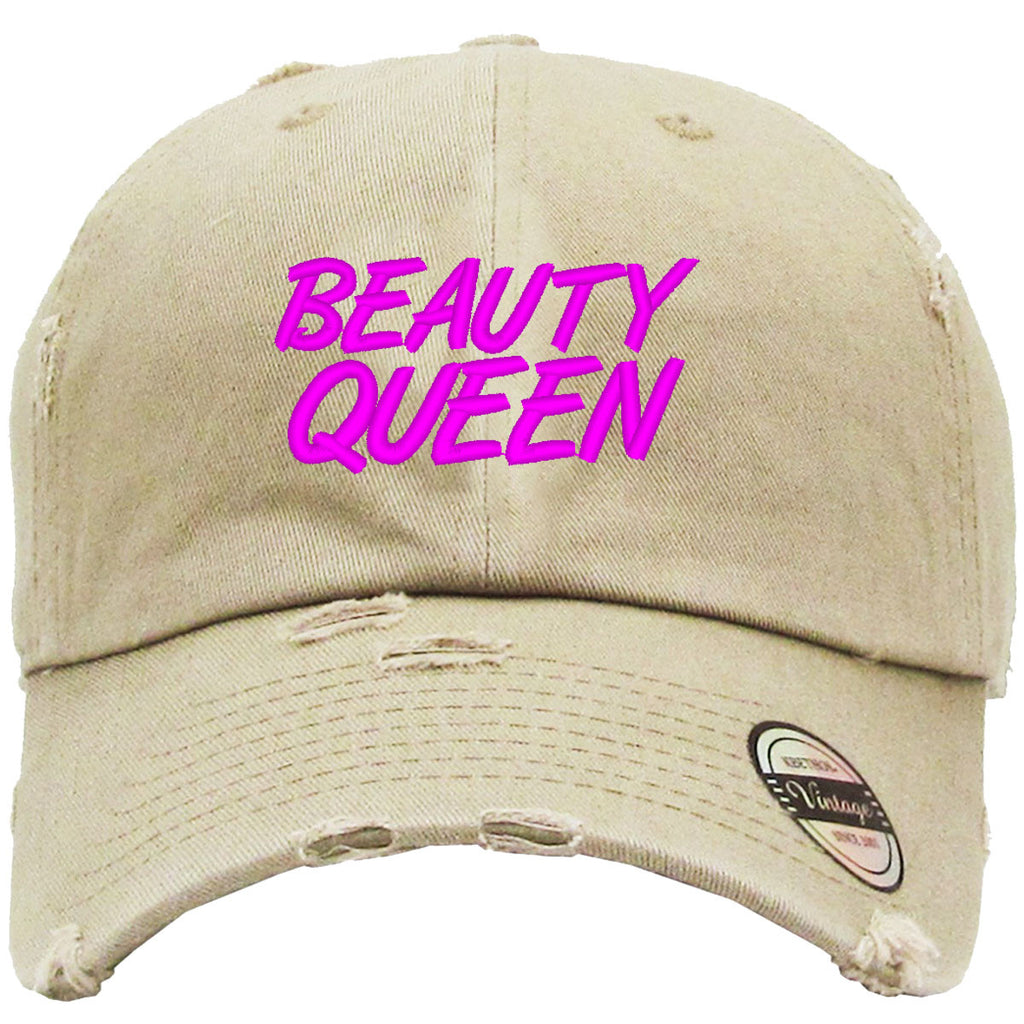beauty queen Embroidered Distressed Baseballs