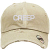 creep Embroidered Distressed Baseball hat