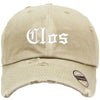 CLOS Embroidered Distressed Baseball hat