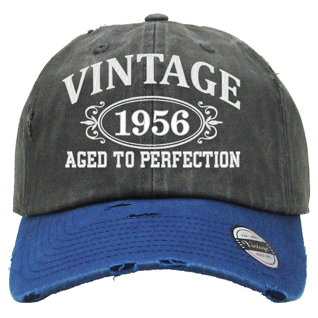 AGED TO PERFECTION 1956 Embroidered Distressed Baseball hat