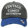 AGED TO PERFECTION 1960 Embroidered Distressed Baseball hat