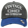 AGED TO PERFECTION 1930 Embroidered Distressed Baseball hat