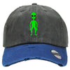 Alien Distressed Baseball