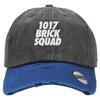 1017 brick squad emoji Distressed Baseball