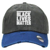 BLACK LIVES MATTER Embroidered Distressed Baseballs
