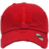 DELTA SIGMA THETA Embroidered Distressed Baseball hat