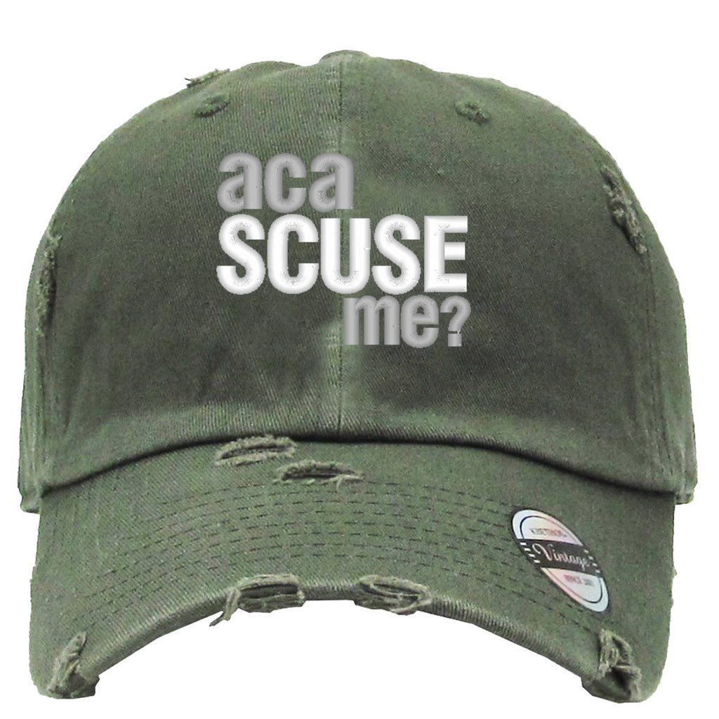 Aca scuse me Distressed Baseball