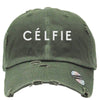 CELFIE Embroidered Distressed Baseball hat
