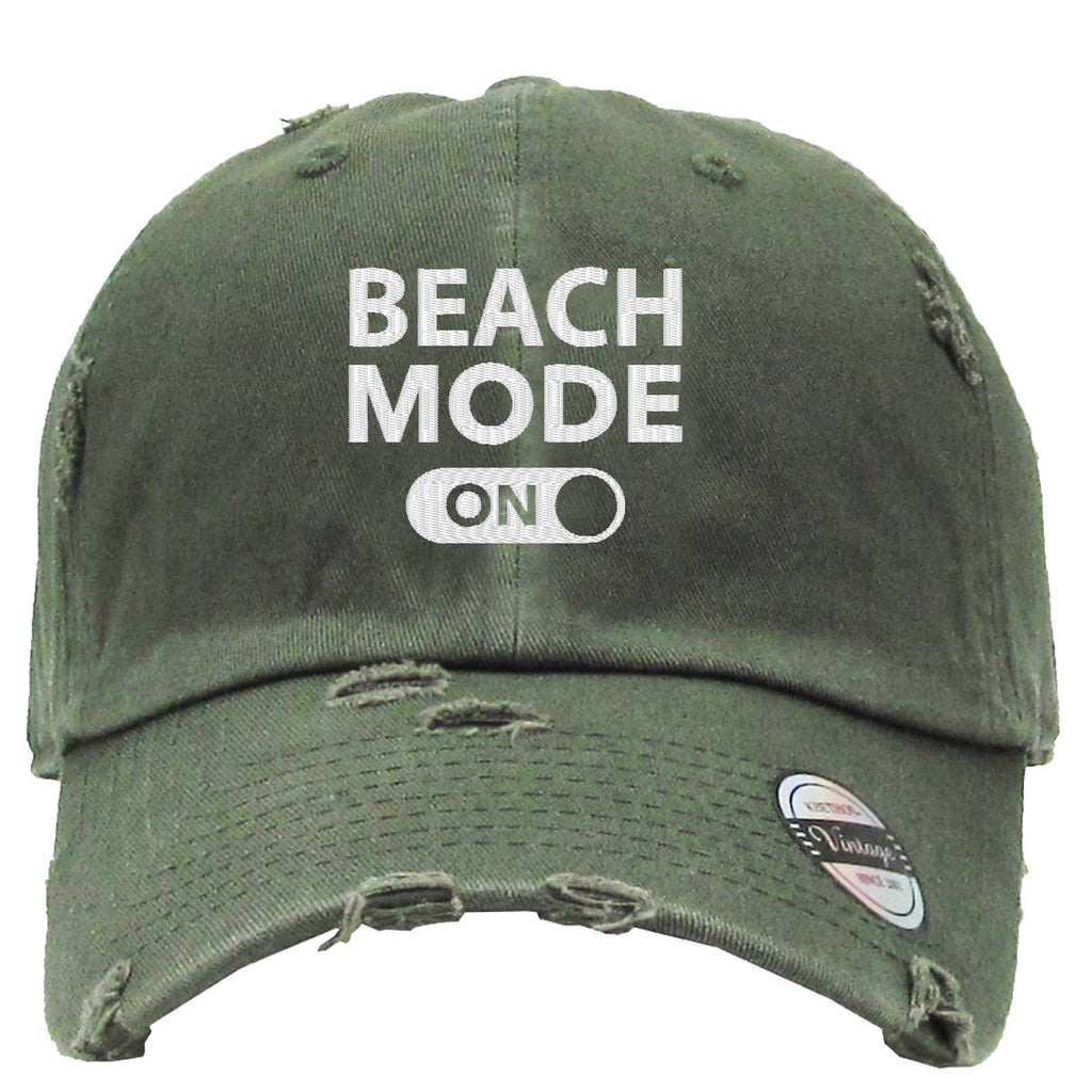 beach mode Embroidered Distressed Baseballs