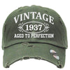 AGED TO PERFECTION 1937 Embroidered Distressed Baseball hat