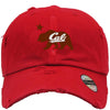 CALI BEAR Embroidered Distressed Baseball hat