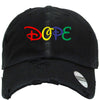 dope  Embroidered Distressed Baseball hat
