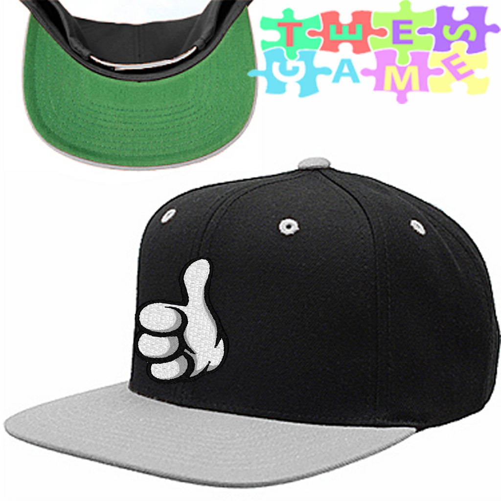 thumps up snapback hat