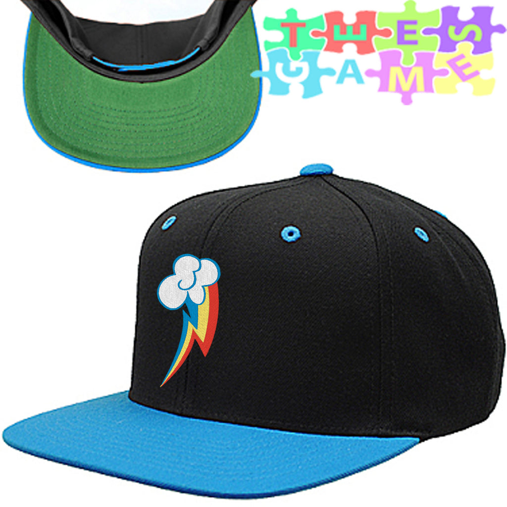 Rainbow Dash Snapback Hat, my little pony hat my little pony
