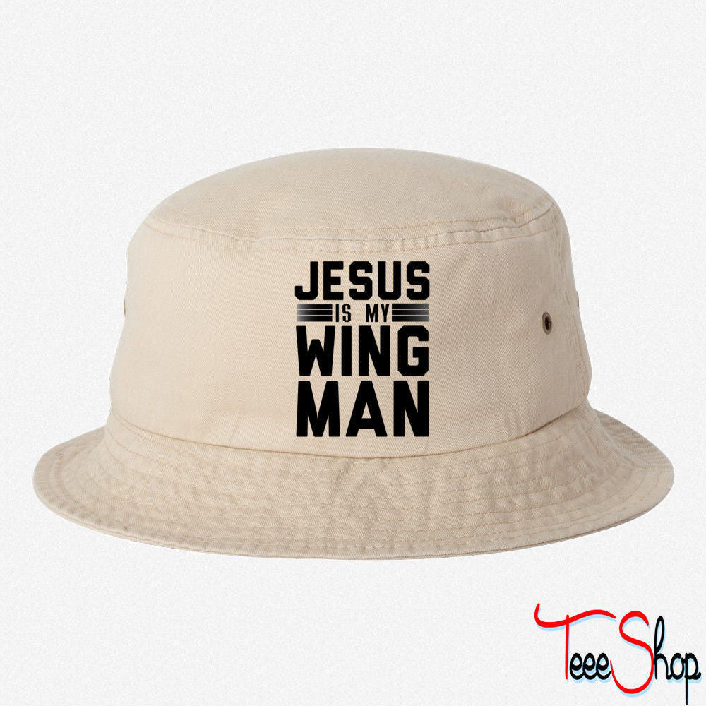 Jesus Is My Wing Man  BUCKET HAT