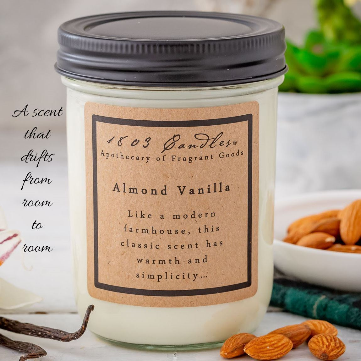 1803 Almond Vanilla Soy Candle 14 oz
