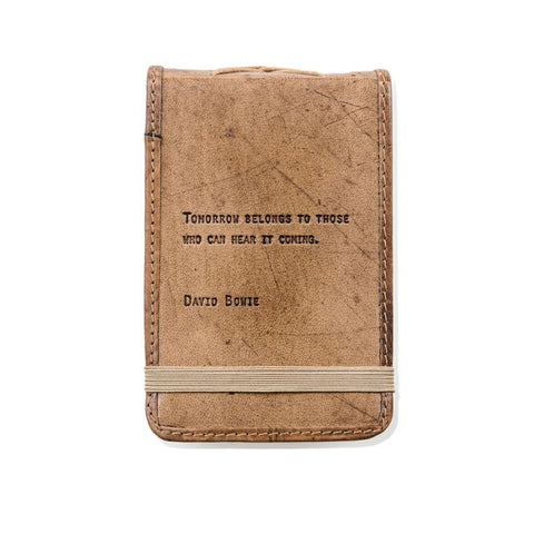 David Bowie Leather Quote Journal