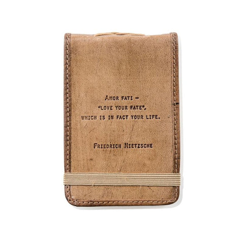 Friedrich Nietzsch Leather Quote Journal