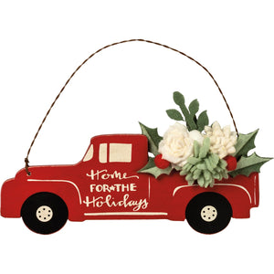 Home For The Holidays Red Truck Ornament