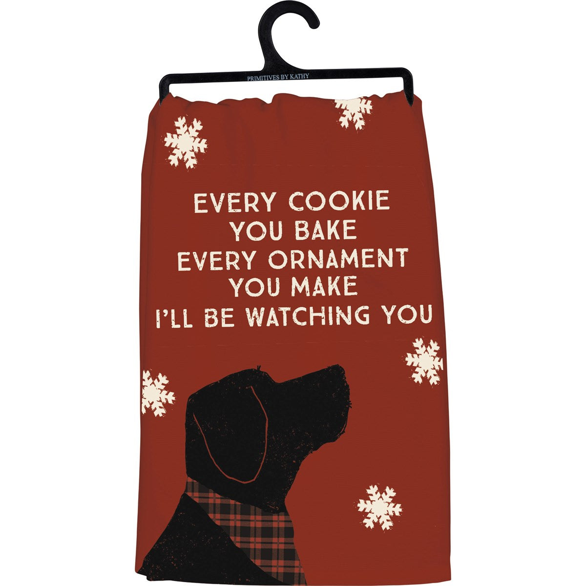 """Watching You"" Dog Theme Tea Towel"