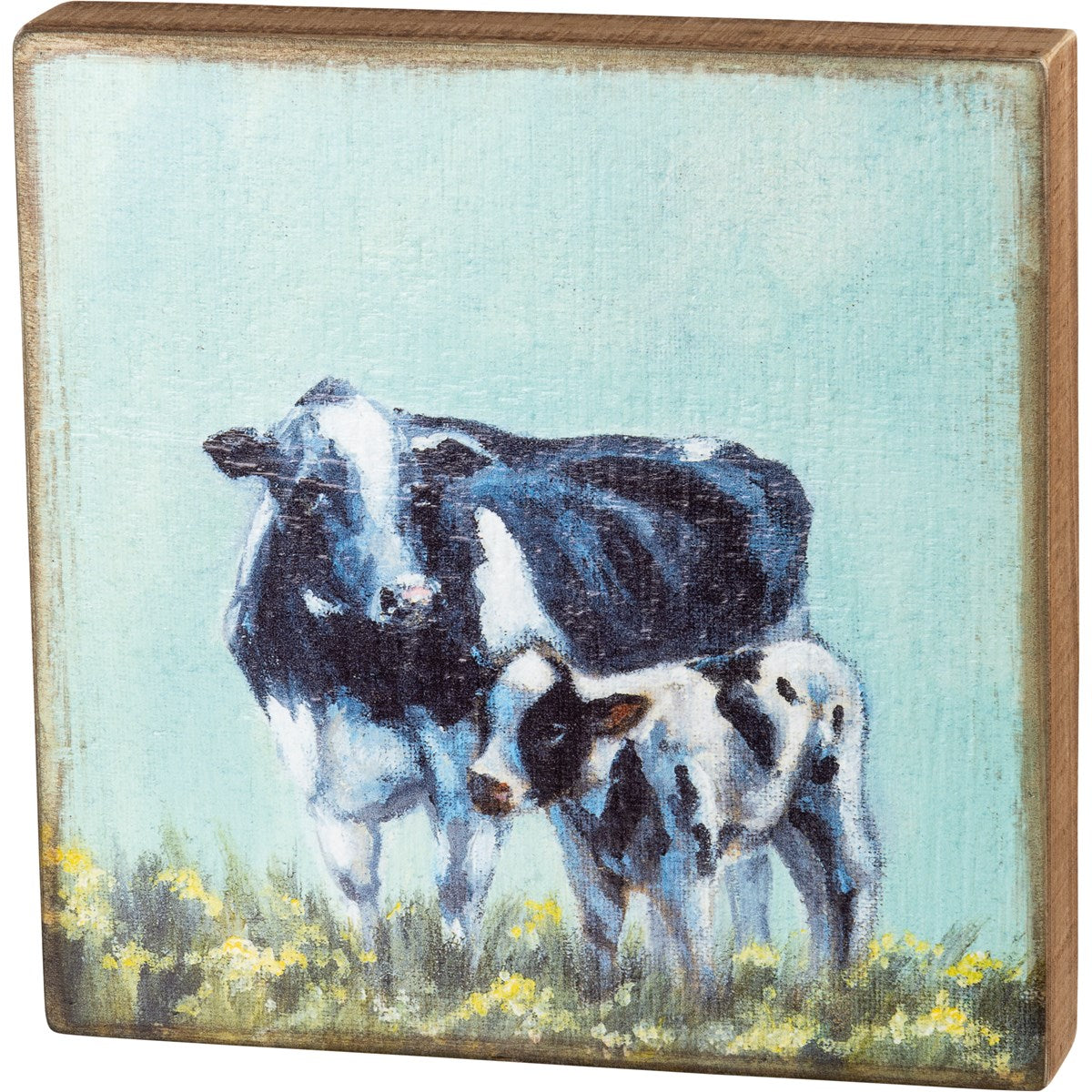 Cow and Calf Block Picture