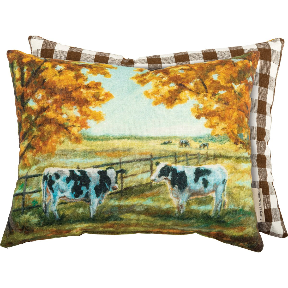 Fall Cow Pillow