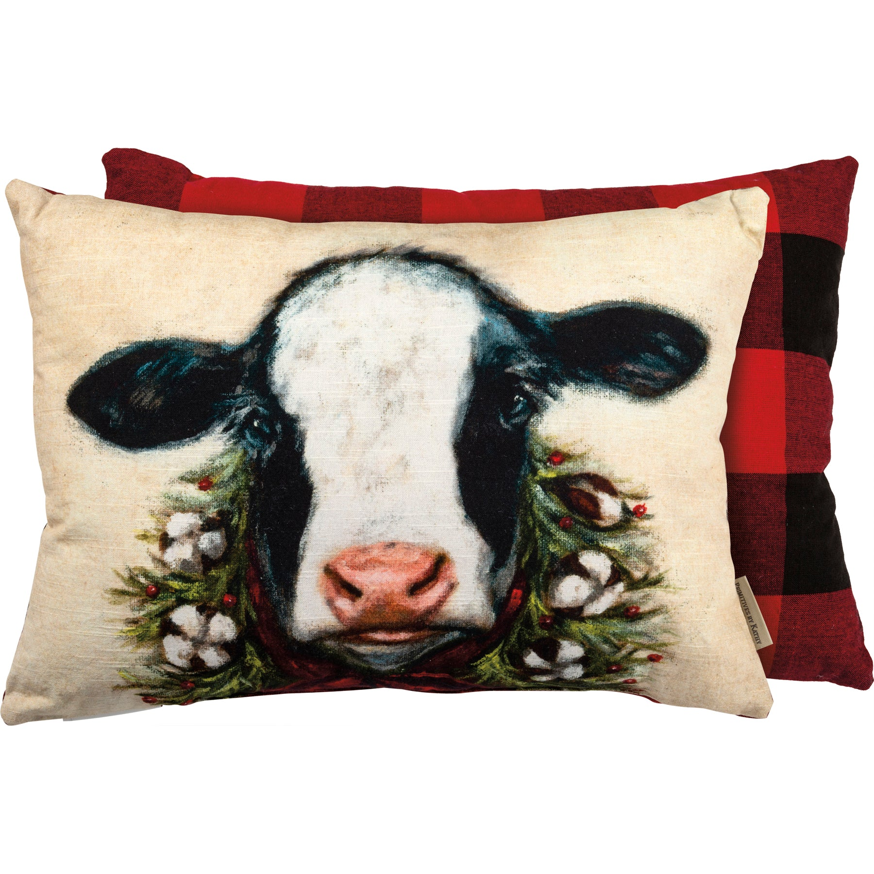 Christmas Calf Pillow